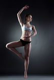 Image of graceful girl posing in dance pose Stock Photos