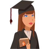 Lawyer. Image of a graduated lawyer, no use of gradients or trasparency Stock Photography