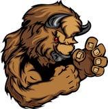 Image graphique d'une mascotte de bison ou de Buffalo Images stock