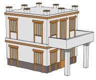Image of greek house Stock Photo
