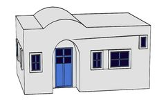 Image of greek house Royalty Free Stock Images