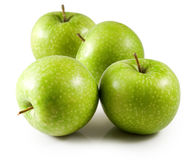Image of green apples close-up Stock Photos