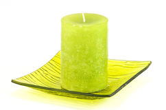 Image of green decorative candle Stock Image