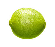 Image of green lime isolated over white Stock Images