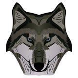 Image Grey Wolf Head de mascotte de vecteur de bande dessinée Photo stock