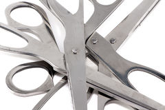 Image of group steel scissors Royalty Free Stock Photos