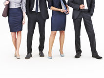 Image of a group of young businessmen and businesswomen standing on an  white background. Royalty Free Stock Photography