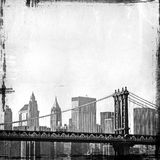 Image grunge d'horizon de New York Images libres de droits