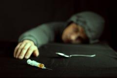 Image grunge d'une drogue déprimée image libre de droits