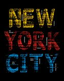 Image grunge de vecteur de New York City Photos stock