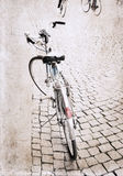 Image in grunge style, bicycle Stock Image