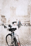 Image in grunge style, bicycle Royalty Free Stock Photography