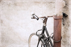 Image in grunge style, bicycle Royalty Free Stock Image