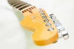 Image of guitar fingerboard on white background Royalty Free Stock Images