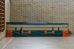 Gym mats in the school gym Royalty Free Stock Photography