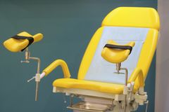 Gynecological chair close up. Image of gynecological chair close up royalty free stock photography