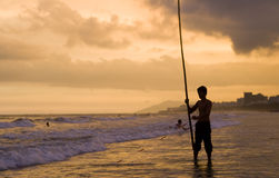Image of Hainan young fisherman royalty free stock images