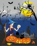 The image on the Halloween Stock Image