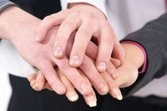Image of a handshake between a group of people Royalty Free Stock Images