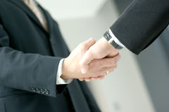 Image of a handshake between two business men Stock Photo