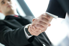 Image of a handshake between two businesspersons Royalty Free Stock Photo