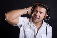Image of handsome male DJ Stock Photo
