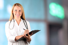 Image of happy doctor  looking at camera Royalty Free Stock Photos