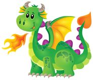 Image with happy dragon theme 1 Royalty Free Stock Photography