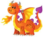 Image with happy dragon theme 4 Royalty Free Stock Photo
