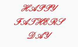 Happy father`s day, text design. Vector calligraphy. Typography poster. Usable as background. stock illustration