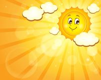 Image with happy sun theme 3 Royalty Free Stock Images