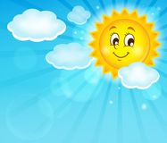 Image with happy sun theme 1 Stock Photo