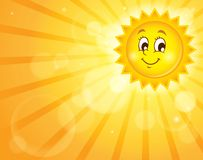 Image with happy sun theme 2 Stock Photos