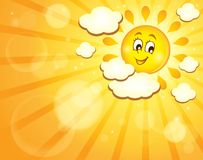 Image with happy sun theme 7 Royalty Free Stock Photos