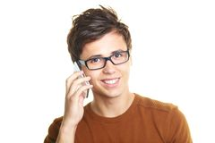 Teenager calling Royalty Free Stock Image