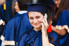 Image of a happy young graduate Royalty Free Stock Photos