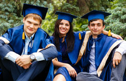 Image of happy young graduates Royalty Free Stock Images