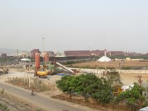 Side view of small factory near by national highway. This image has taken form national highway visakhapatnam, Andhra Pradesh, India Stock Image