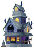 Image with haunted house thematics 1 Stock Photo