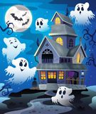 Image with haunted house thematics 4 Stock Image