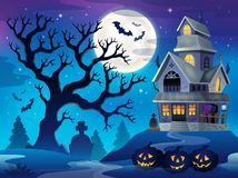 Image with haunted house thematics 6 Royalty Free Stock Image
