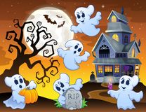 Image with haunted house thematics 7 Stock Photo