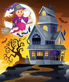 Image with haunted house thematics 9 Stock Photography