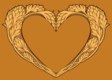 Image of heart in art nouveau style. Isolated colorful image of heart in art nouveau style Stock Photos