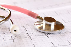 Image of heart and stethoscope. Medical concept royalty free stock photo
