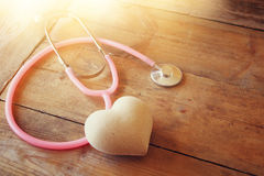 Image of heart and stethoscope. Medical concept Royalty Free Stock Photography