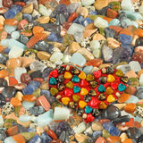 Image of a heart of stones close-up Royalty Free Stock Photography