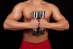 Image of heavy dumbbells Stock Images