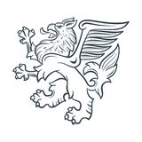 Image of the heraldic griffin Royalty Free Stock Photography