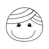 Image heureuse d'icône de bande dessinée de garçon Images libres de droits
